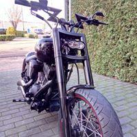 Z-BAR gemonteerd op Harley Davidson softail